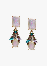 Venus Stone & Crystal Earrings