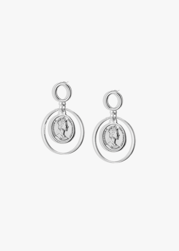Silver Queen Elizabeth Vintage Earrings