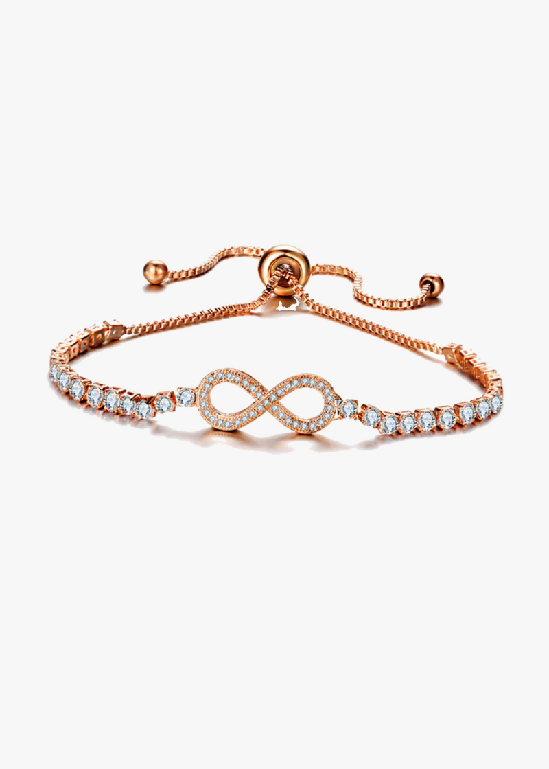 Infinity Adjustable Tennis Crystal Bracelet