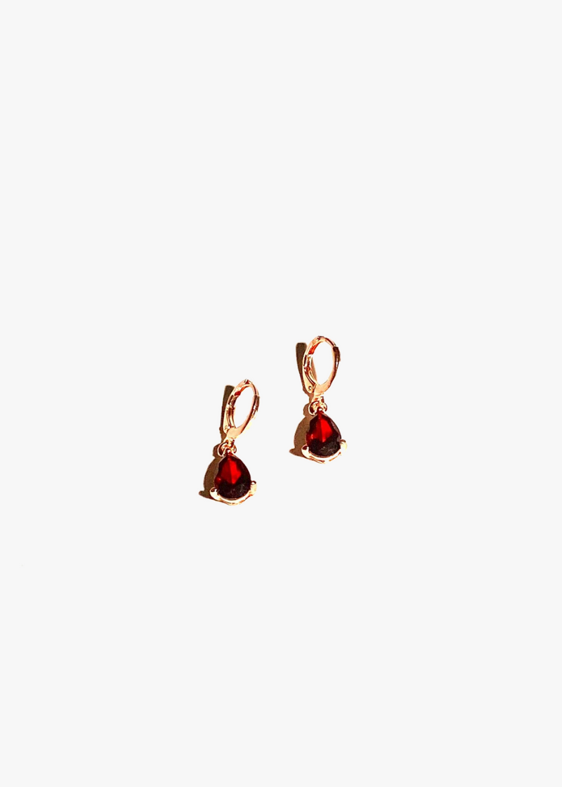Red Drop Danglers