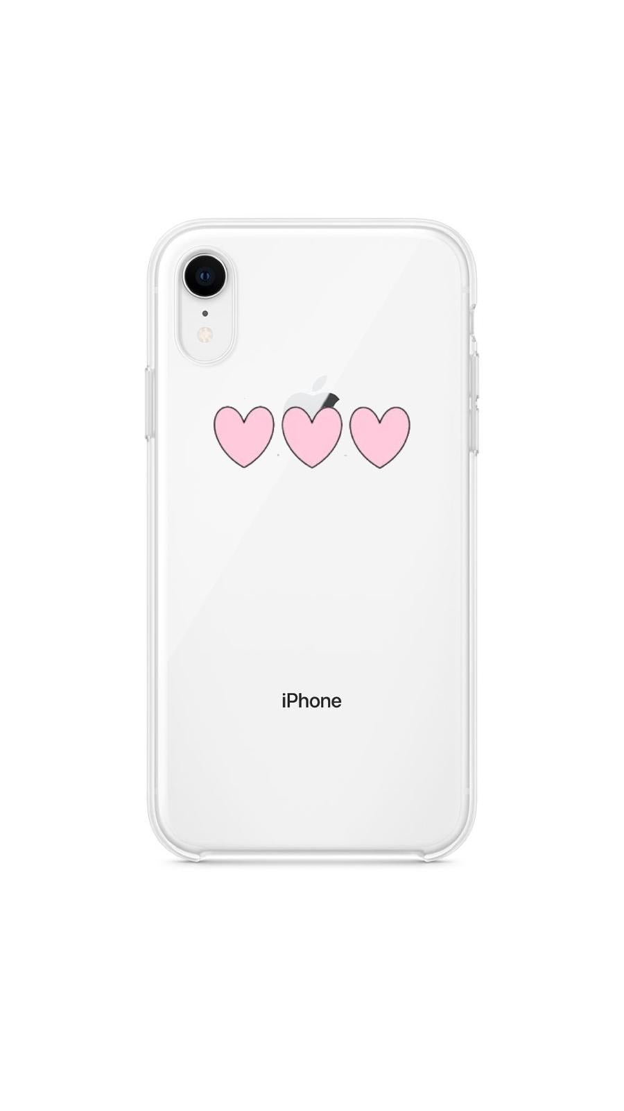 Girly collection Three pink hearts - Huawei Samsung Xiaomi
