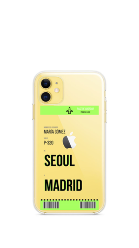 Fundas de Billete de Avión Personalizable - Apple Xiaomi Samsung Huawei