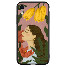 Cargar imagen en el visor de la galería, Girl in Yellow - Girly Collection - iPhone Xiaomi Samsung Huawei