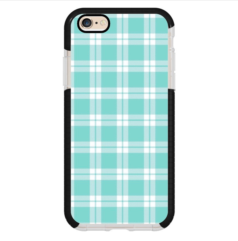 Cuadros Azul Claro - Girly Collection - iPhone Xiaomi Samsung Huawei