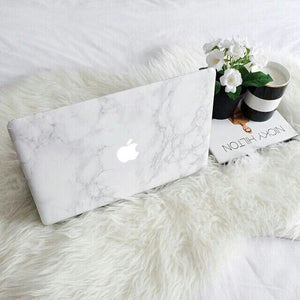 Funda de mármol para MacBook Blanco