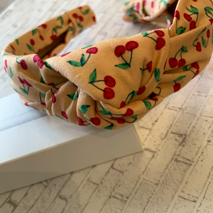 Cherry On Top Knotted Headband