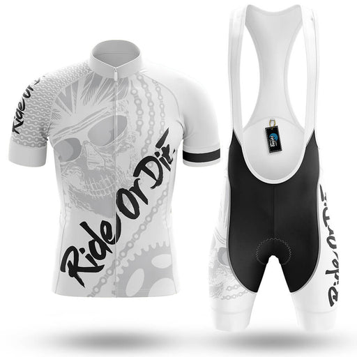 Ride Or Die V4 - White - Men's Cycling Kit - Global Cycling Gear