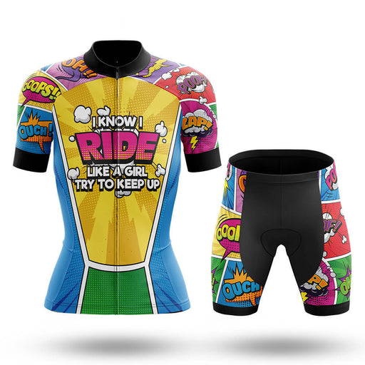 Like A Girl Comic - Women - Cycling Kit