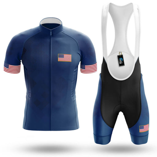 USA V2 - Navy - Men's Cycling Kit