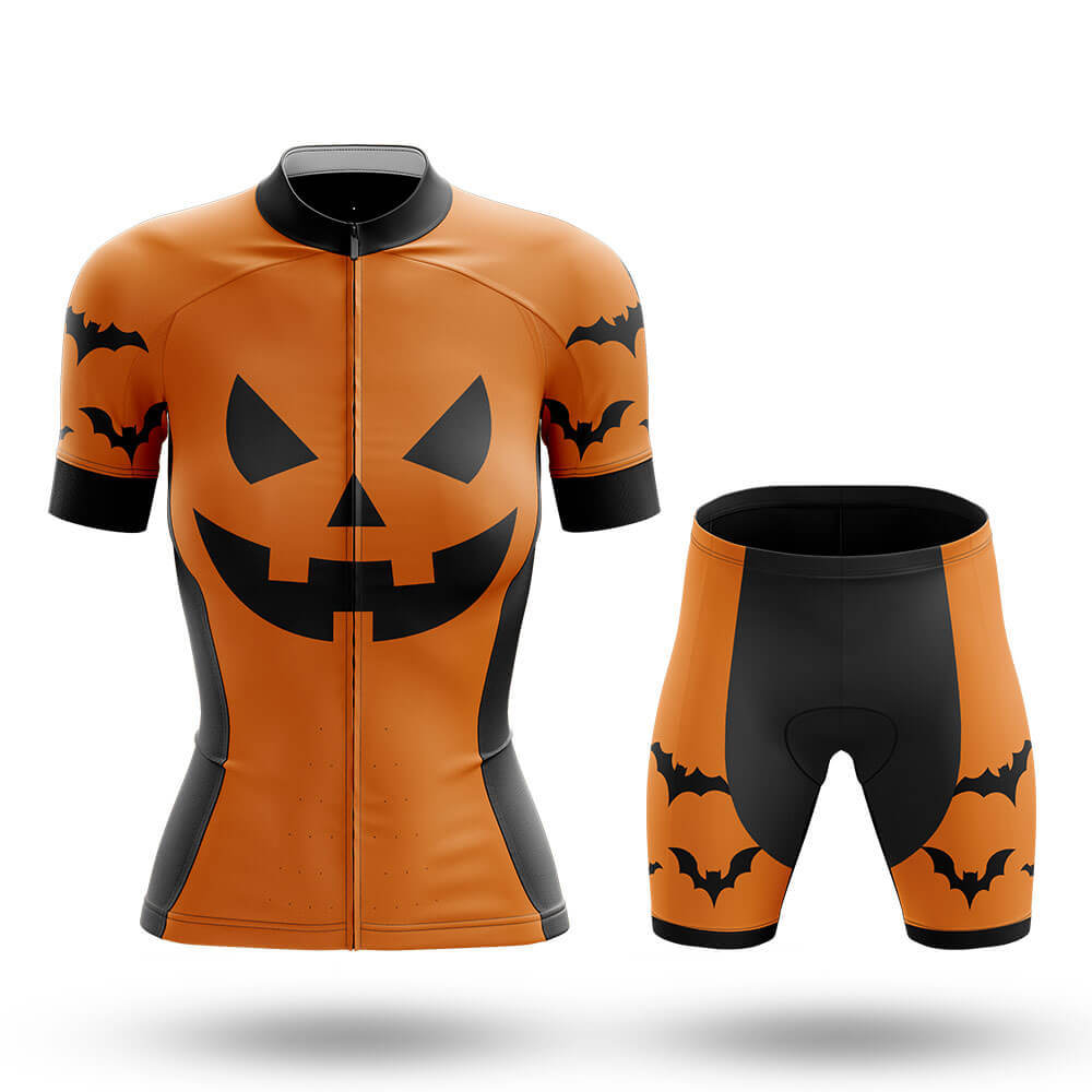 Pumpkin Face - Orange - Women - Cycling Kit - Global Cycling Gear