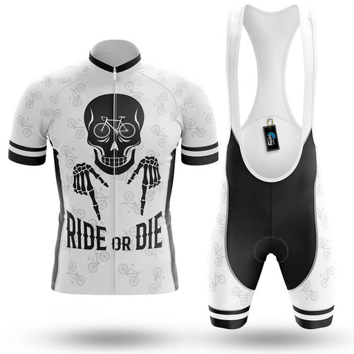 Ride Or Die V6 - White - Men's Cycling Kit - Global Cycling Gear