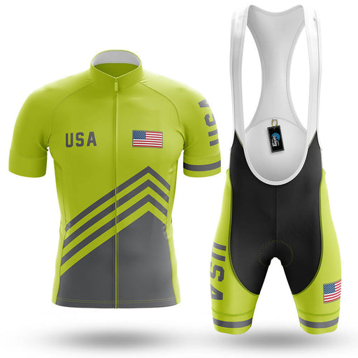 USA S4 Lime Green - Men's Cycling Kit