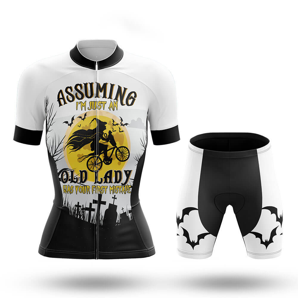 Halloween Lady V4 - White - Women - Cycling Kit - Global Cycling Gear