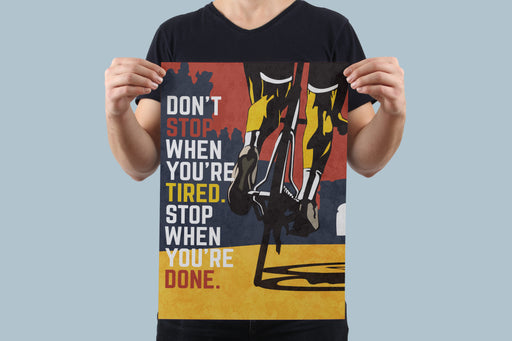 Don't Stop Poster - Global Cycling Gear