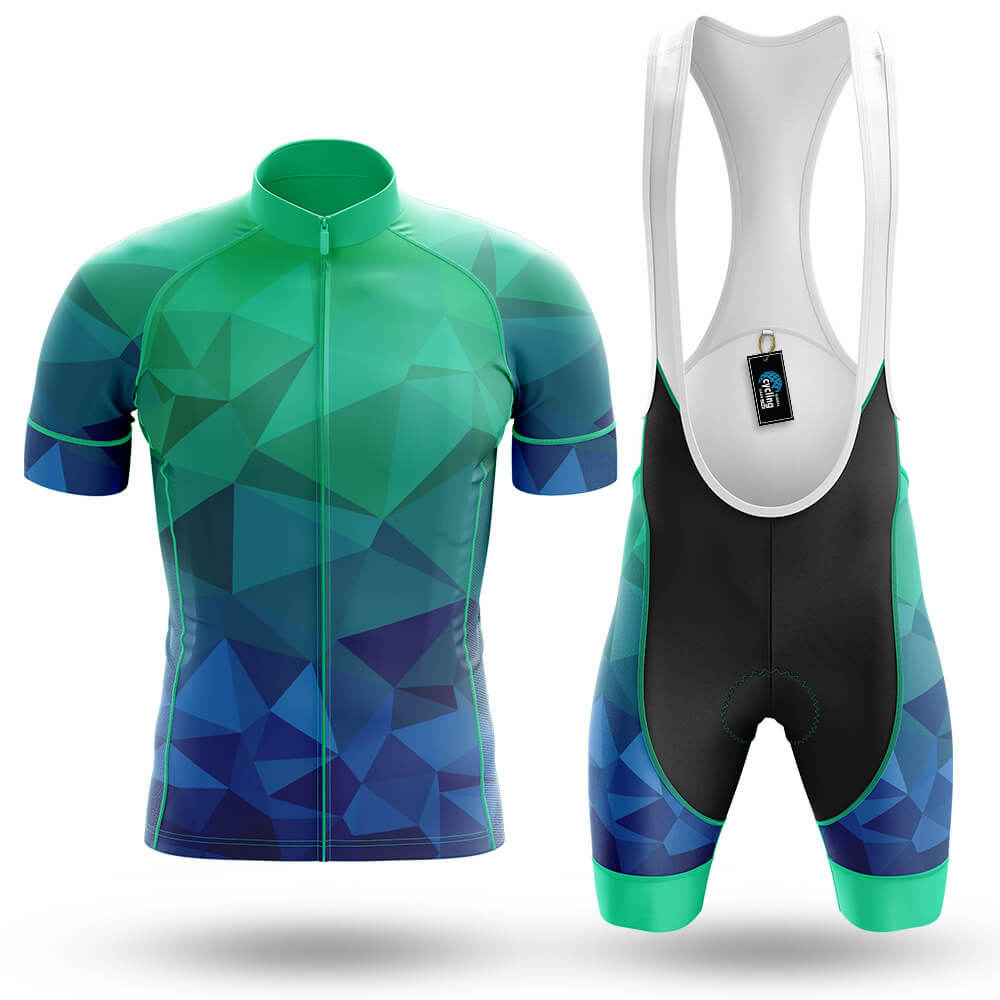 Blue Green Polygon - Men's Cycling Kit - Global Cycling Gear