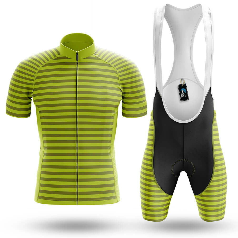 Lime Green Stripe - Men's Cycling Kit - Global Cycling Gear