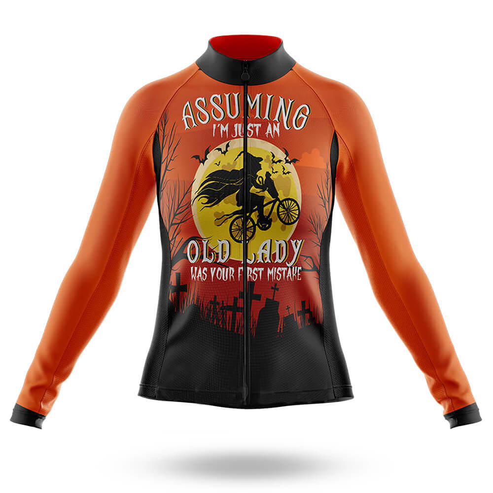Halloween Lady -  Long Sleeve Jersey - Global Cycling Gear