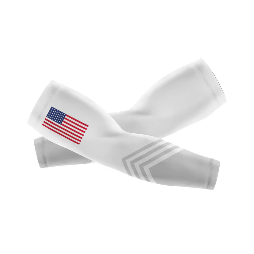 USA S5 White - Arm And Leg Sleeves