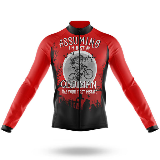 Assuming Old Man - Long Sleeve Jersey - Global Cycling Gear