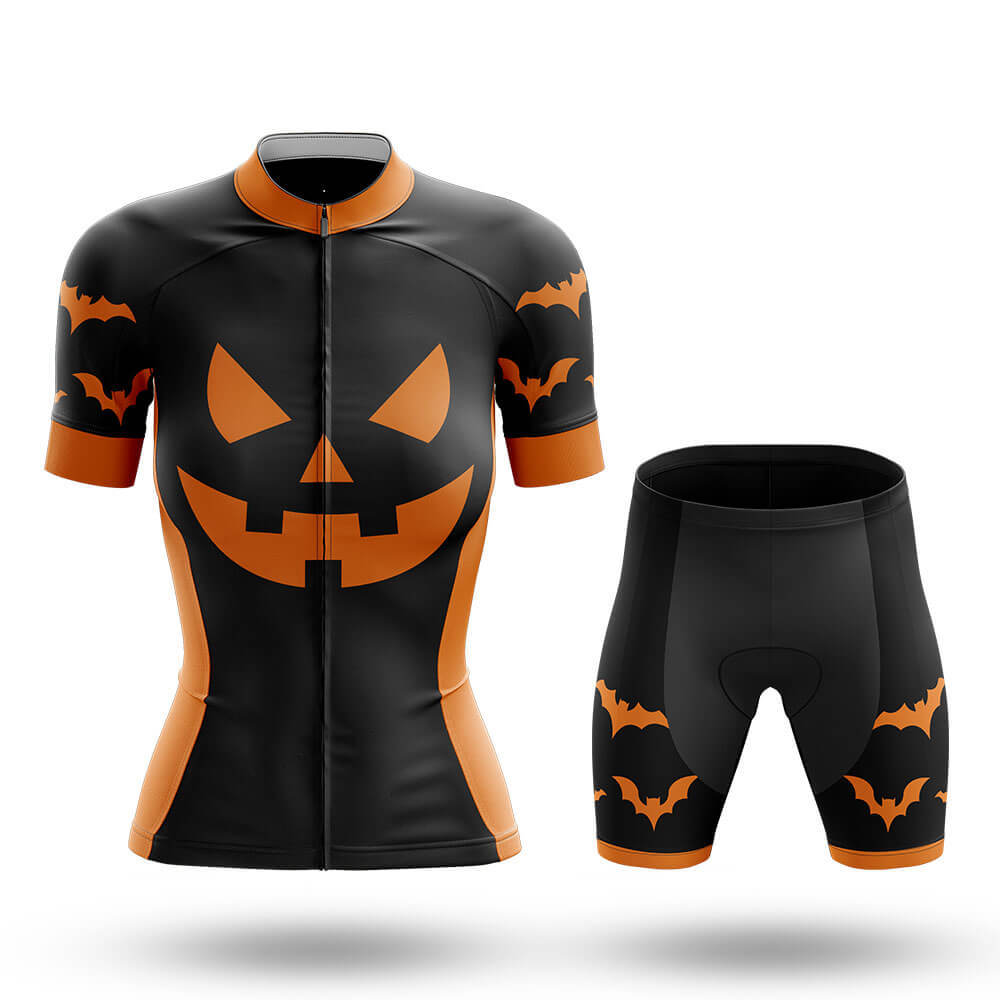 Pumpkin Face - Black - Women - Cycling Kit - Global Cycling Gear