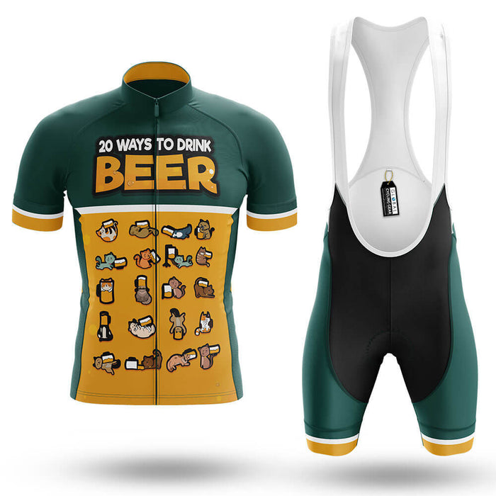 20 Ways To Drink Beer - Men's Cycling Kit - Global Cycling Gear