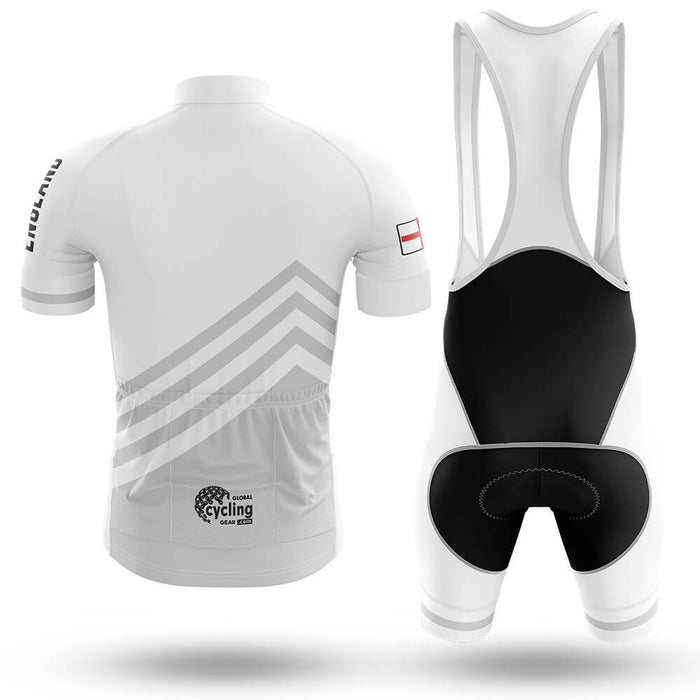 England S5 White - Men's Cycling Kit - Global Cycling Gear