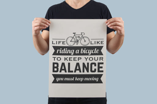 Life Is Like Riding A Bicycle Poster - Global Cycling Gear