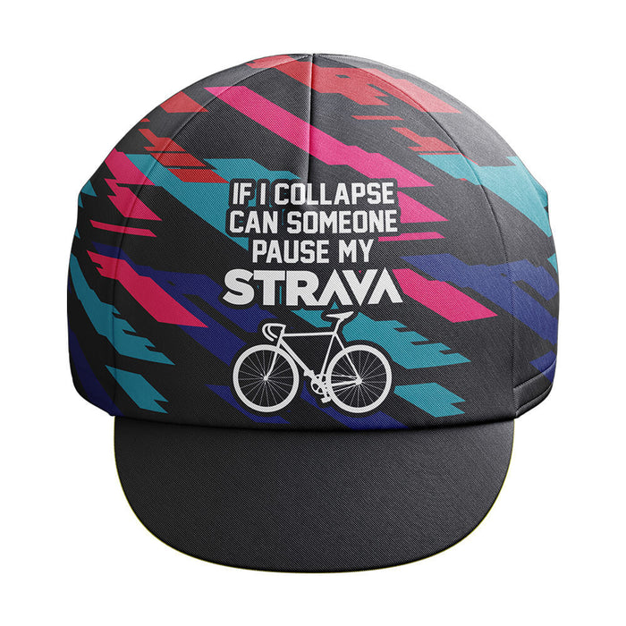 Pause My Strava Cycling Cap - Global Cycling Gear