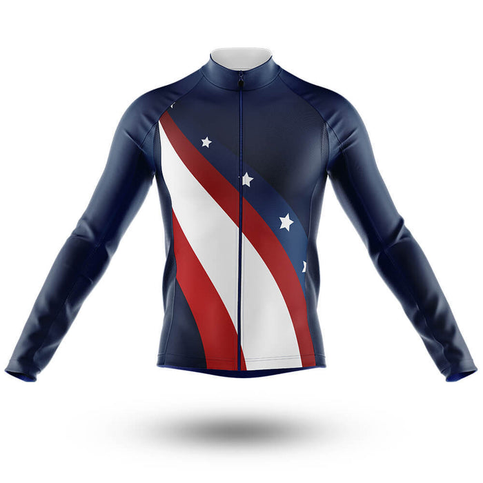 USA V3 - Long Sleeve Jersey - Global Cycling Gear