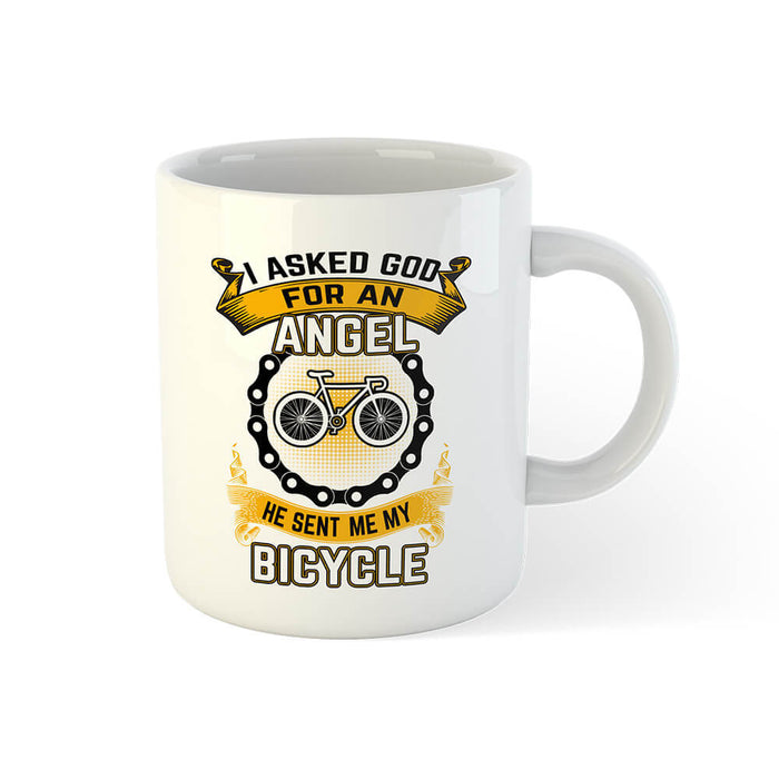 God Sent Me A Bicycle Mug - Global Cycling Gear