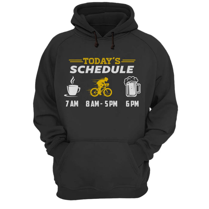 Today's Schedule - Hoodie - Global Cycling Gear