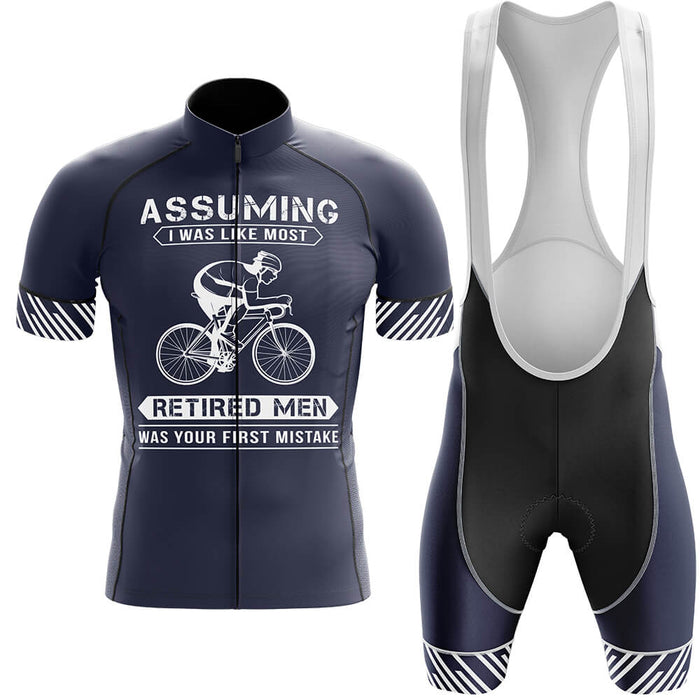 Cycling Retired Man - Global Cycling Gear
