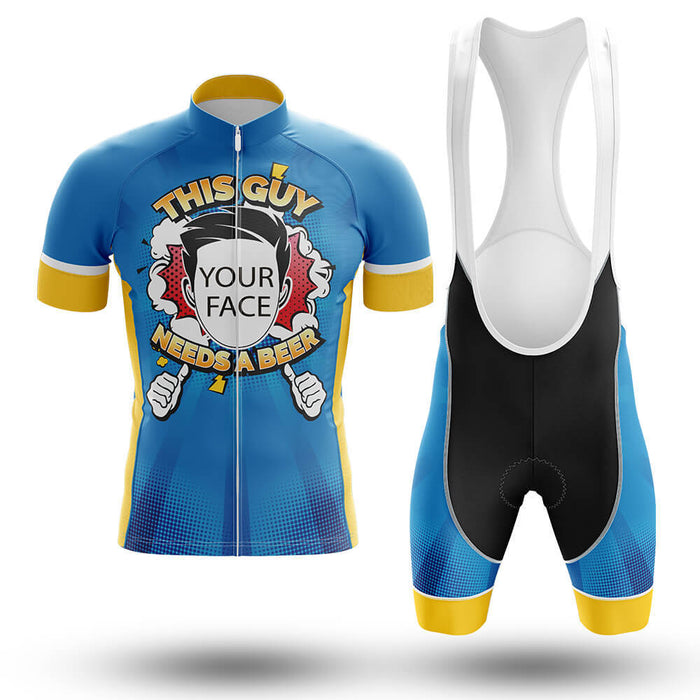 This Guy Needs A Beer - Custom Men's Cycling Kit - Global Cycling Gear
