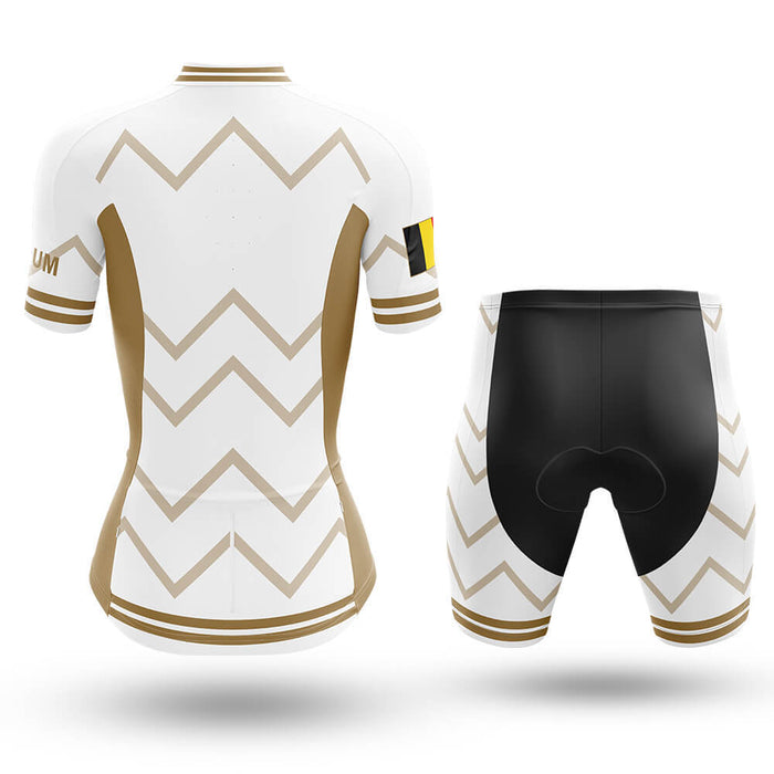 Belgium - Women V17 - White - Cycling Kit - Global Cycling Gear