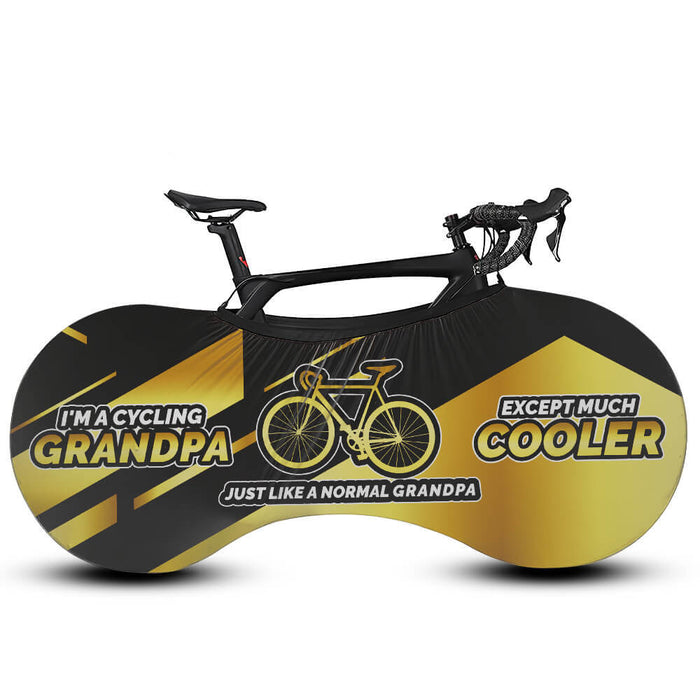 Cycling Grandpa - Bicycle Cover