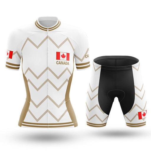 Canada - Women V17 - White - Cycling Kit - Global Cycling Gear