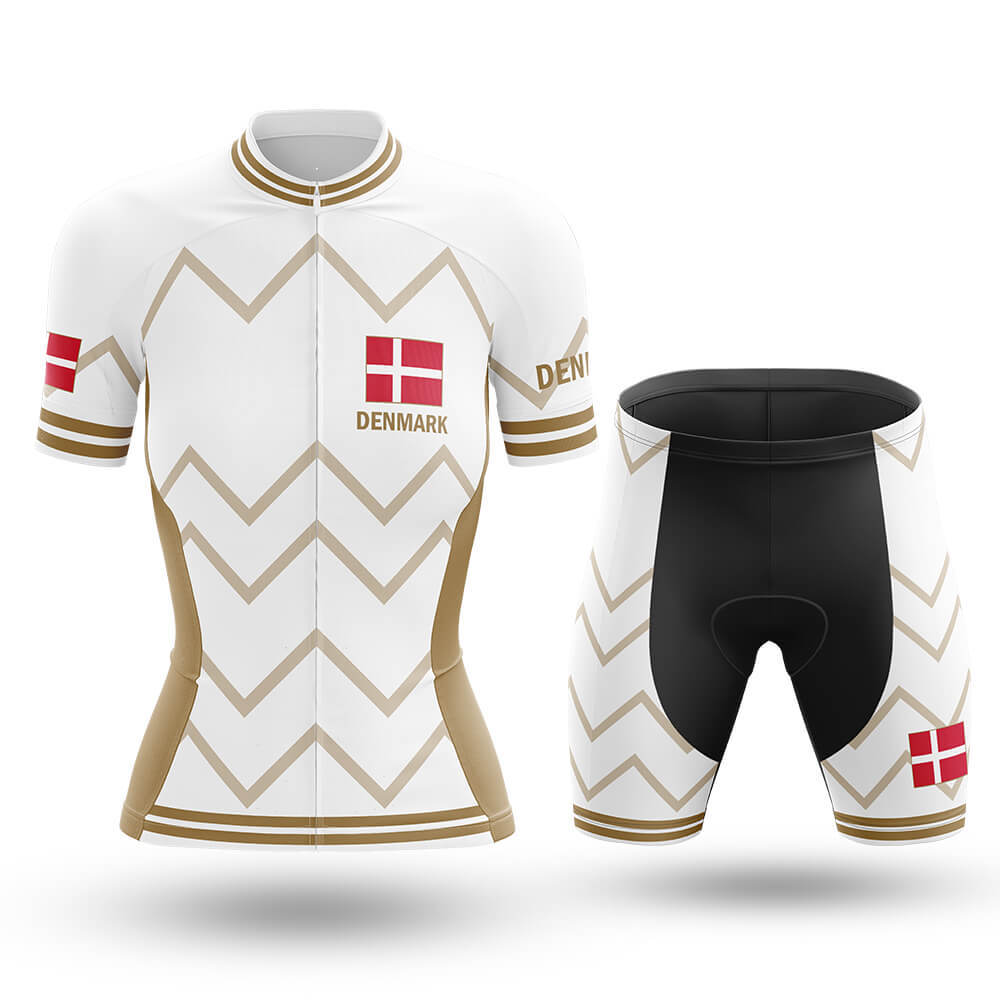 Denmark  - Women V17 - White - Global Cycling Gear