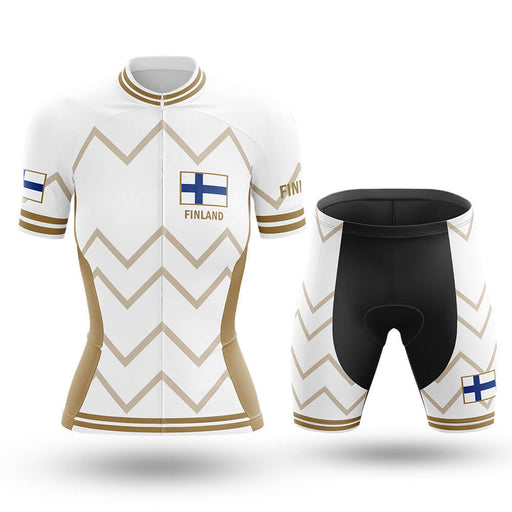 Finland - Women V17 - White - Cycling Kit - Global Cycling Gear