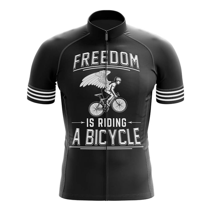 Freedom Is Riding A Bicycle - Men's Cycling Kit - Global Cycling Gear