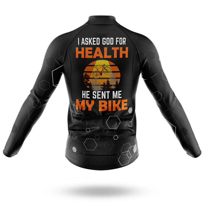 I Asked God For Health  - Men's Cycling Kit - Global Cycling Gear