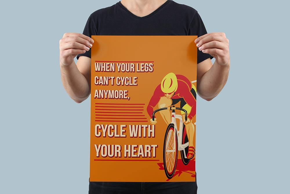 Cycle With Your Heart Poster - Global Cycling Gear