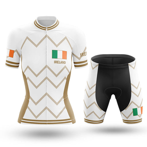 Ireland - Women V17 - White - Cycling Kit - Global Cycling Gear