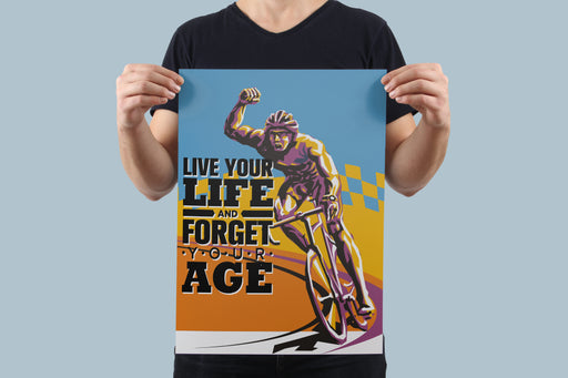 Live Your Life Poster - Global Cycling Gear