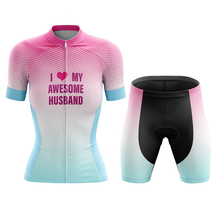 I Love My Awesome Husband - Cycling Kit - Global Cycling Gear