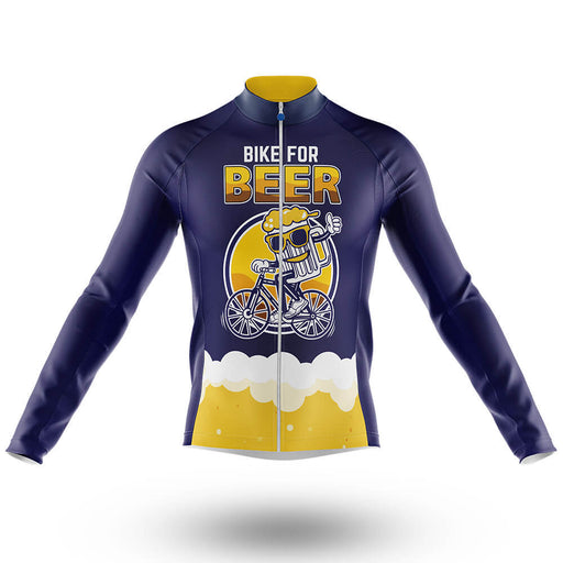 Bike For Beer - Long Sleeve Jersey - Global Cycling Gear
