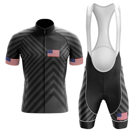 USA V13 - Black - Men's Cycling Kit - Global Cycling Gear
