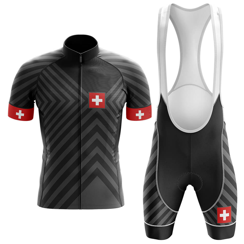 Switzerland V13 - Black - Men's Cycling Kit - Global Cycling Gear