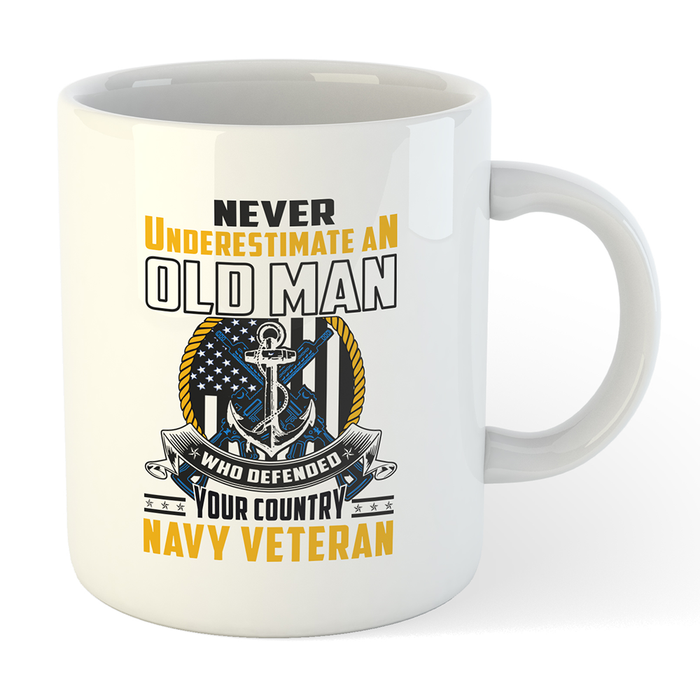 U.S. Navy Veteran Old Man Mug - Global Cycling Gear