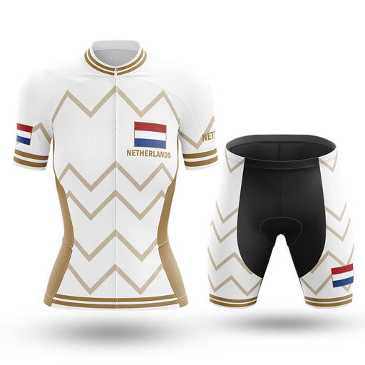 Netherlands - Women V17 - White - Cycling Kit - Global Cycling Gear