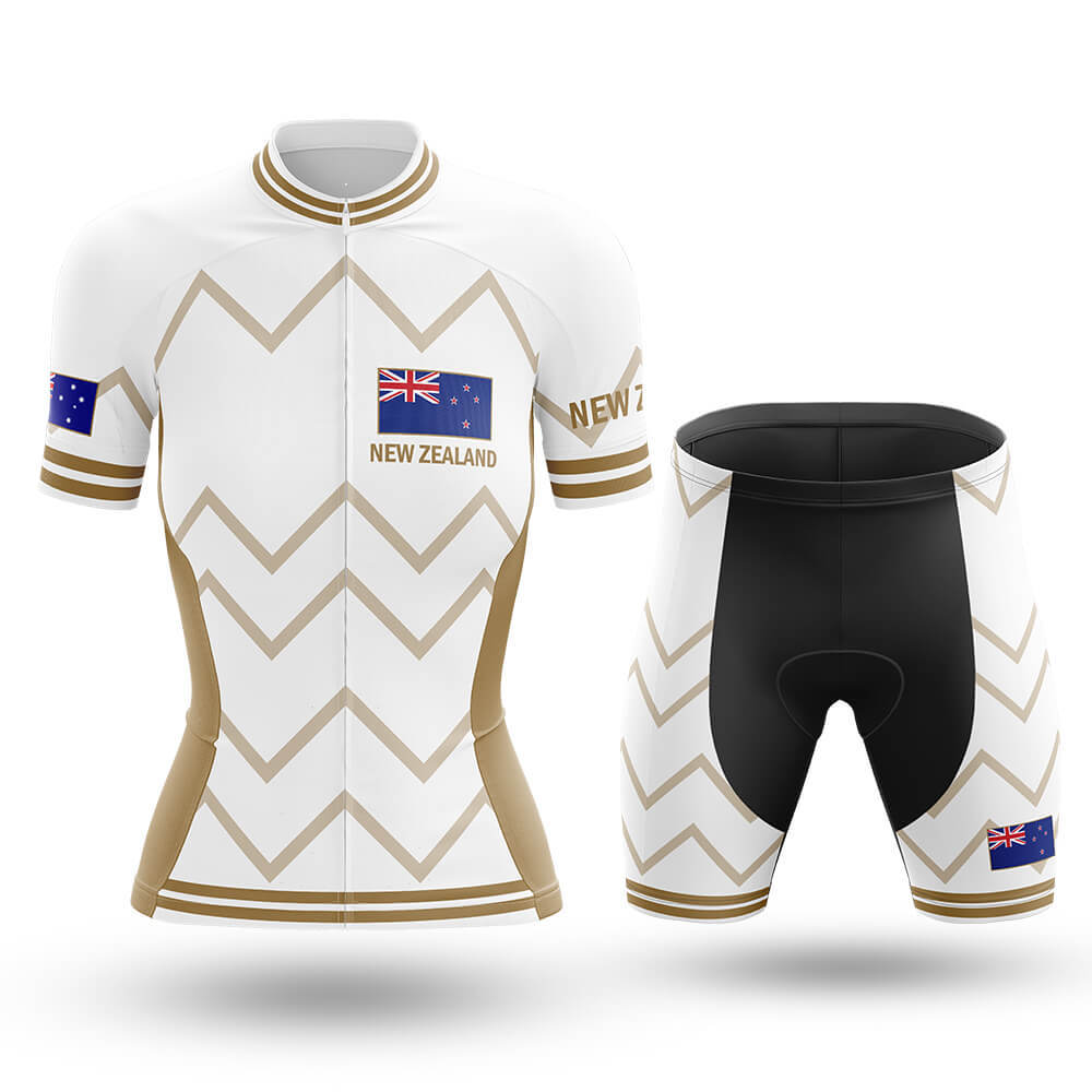 New Zealand - Women V17 - White - Cycling Kit